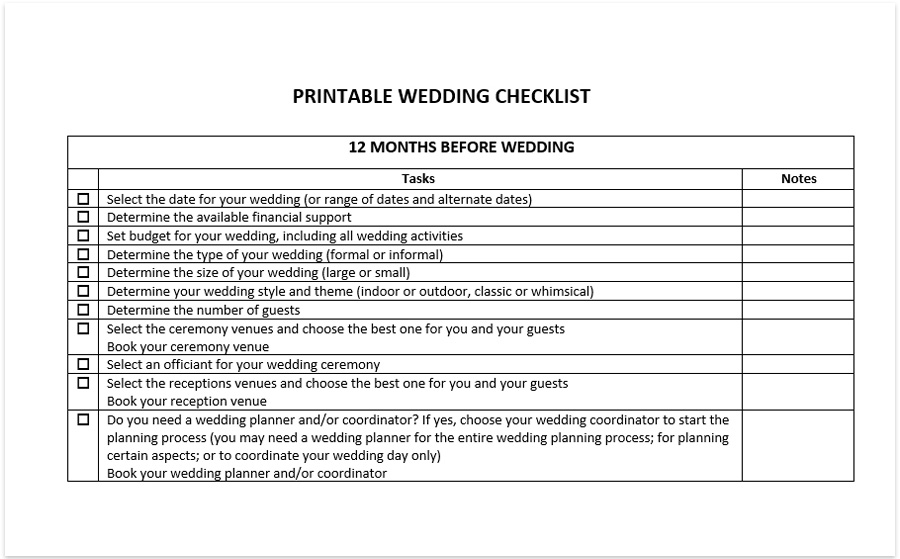 picture regarding Wedding Photo Checklist Printable titled Printable wedding ceremony listing cost-free obtain pdf excel spreadsheet