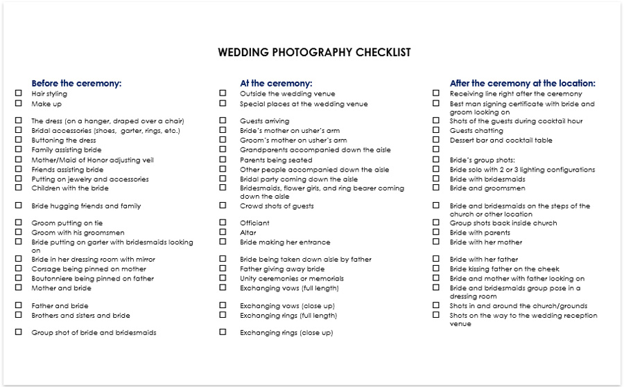 wedding photography checklist pdf download poses shots